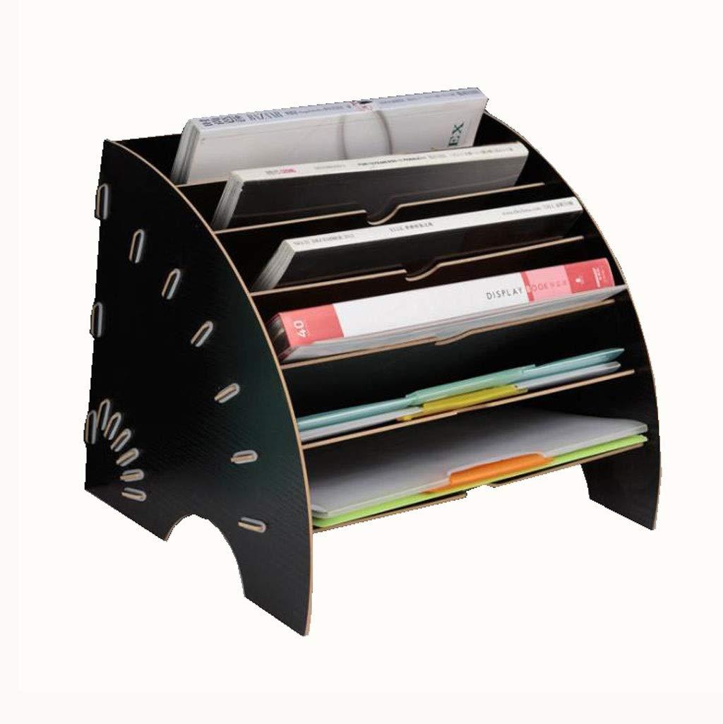 Aktenablage aus Holz Schreibtisch organizer Farbe : A Magazin und Dokument Holz B/üro-Desktop-Schreibwaren Erweitern F/üllung Rack Tray Holder Organizer f/ür A4 Papier Brief