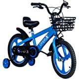 Dripex Kids Bike, 12 14 16 18 Inch Boys Bicycle Girls Bike with Training Wheels and Basket for Kids Ages 2-9,Kickstand…