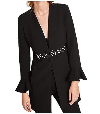Blazer Mujer Primavera Otoño Moda Casuales Oficina Chaqueta ...