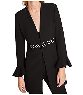 Blazer Mujer Primavera Otoño Moda Casuales Oficina Chaqueta De ...