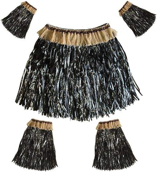 AOLVO Hawaiian Hula Falda de plástico para Mujeres y Hombres ...