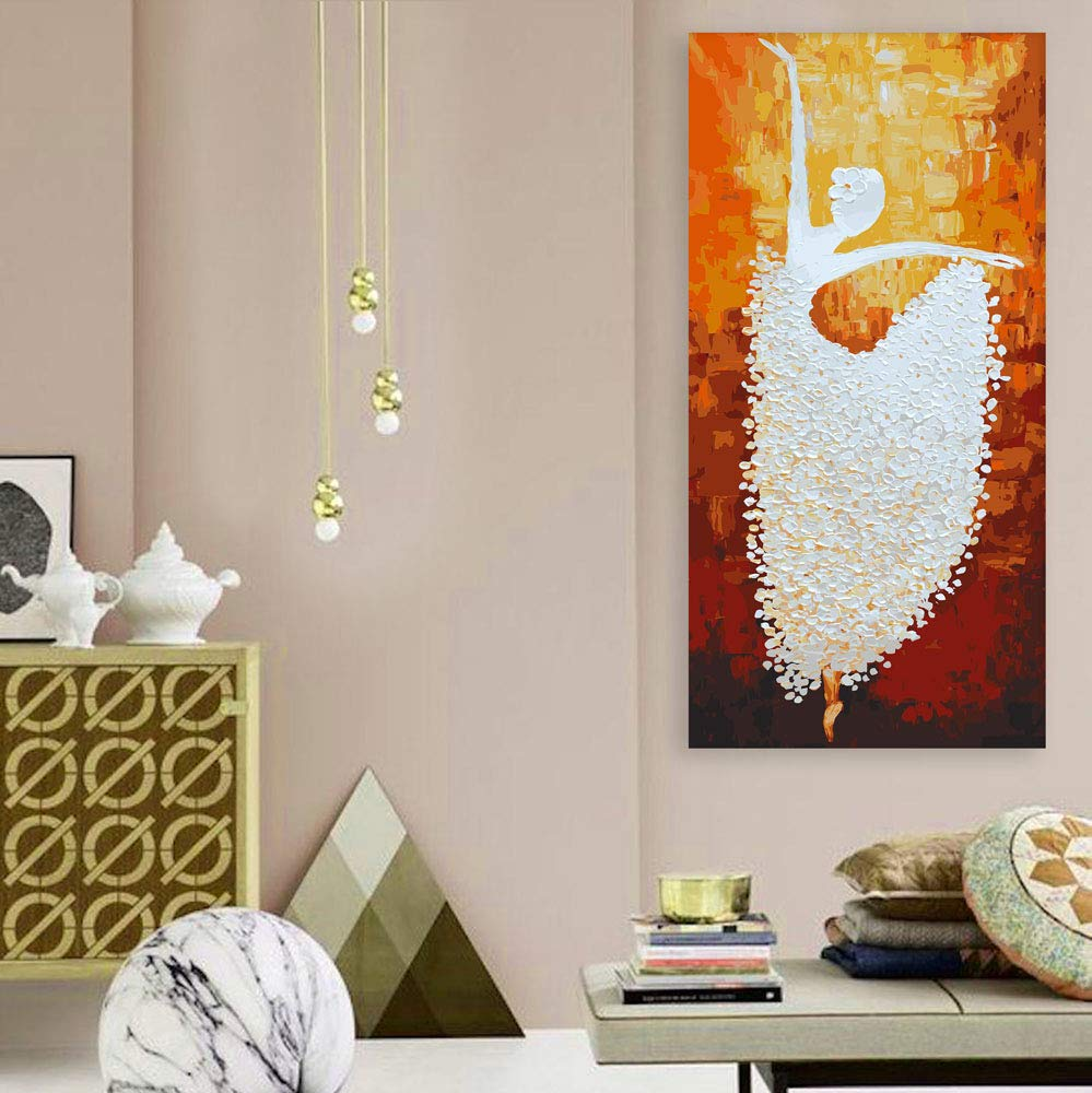 Inephos Unframed Canvas Painting The Graceful Dancer Humans