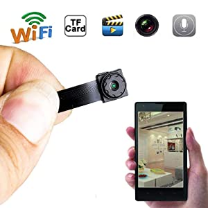 Mini Camera Wireless WiFi Spy Camera Hidden Camera HD Wireless WiFi Camera Portable Live Cam Monitoring Security Camera