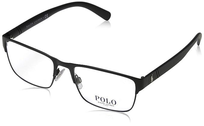 Ralph Lauren POLO 0PH1175 Monturas de gafas, Matte Black, 54 para ...