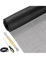 """Screen Repair Kit Easy DIY Project 36"""" x 90"""" Fiberglass Screen Mesh with Rolling Tool and Screen Retainer Spline Screen Replacement kit for Windows Sliding Doors and Patio Screens"""