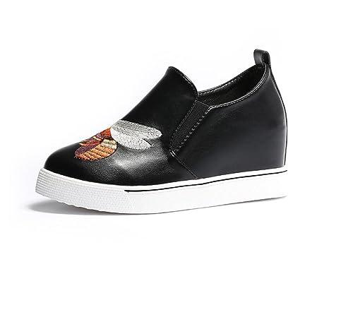 Mocasines para Mujeres Punta Redonda Bordado de La Pequeña Abeja Zapatos Étnicos Tacones de Cuña Ocultos Zapatos de Plataforma: Amazon.es: Zapatos y ...