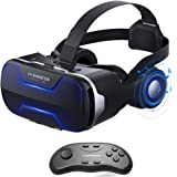 VR Headset, Cobra Tech 3D VR Virtual Reality Headset with Remote Controller and Adjustable Lenses For 3D Movies and Games,Comfortable & Immersive Experience VR Goggles for IOS and Android Device