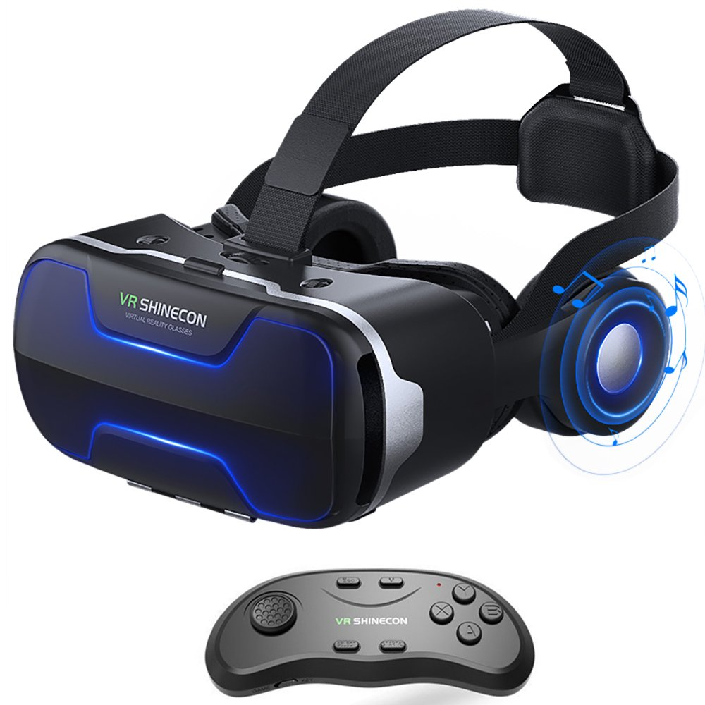 VR Headset, Cobra Tech 3D VR Virtual Reality Headset with Remote Controller and Adjustable Lenses For 3D Movies and Games,Comfortable & Immersive Experience VR Goggles for IOS and Android Device by Cobra Tech (Image #1)