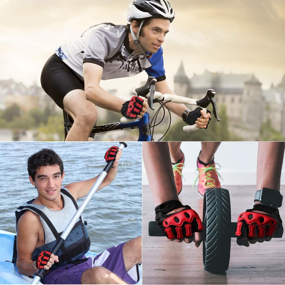 Bessteven Cycling Gloves Fingerless Glove for Men and Women Mountain Biking Motorcycle Riding Racing Shock-Absorbing /& Breathable