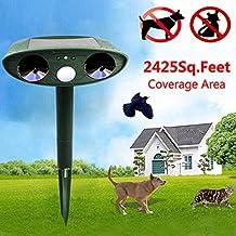 Teekini Loskii HG-GA5 GreatHouse Ultrasonic Solar Power Cat Dog Repeller Outdoor Garden Animal Scarer