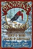 Snowshoe, West Virginia - Ski Shop Vintage Sign (9x12 Art Print, Wall Decor Travel Poster)