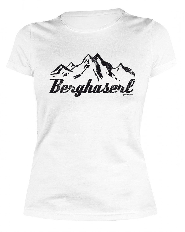 Damen T-shirt witziges Funshirt als Geschenk Frau Natur Freundin Berghaserls