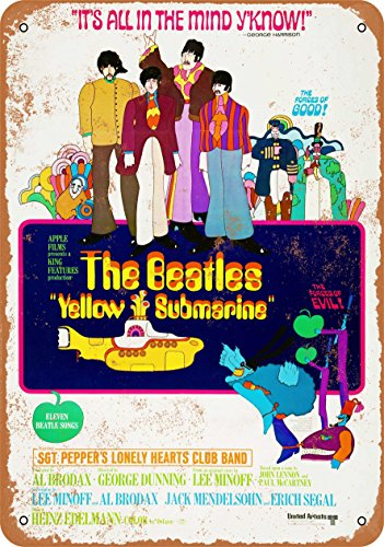 Beatles Color - Wall-Color 7 x 10 METAL SIGN - Beatles Yellow Submarine Movie - Vintage Look Reproduction