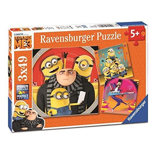 Ravensburger 08016 - Lot de 3 Puzzles - 49 Pièces - Chaos Minions Moi, Moche et Méchant 3