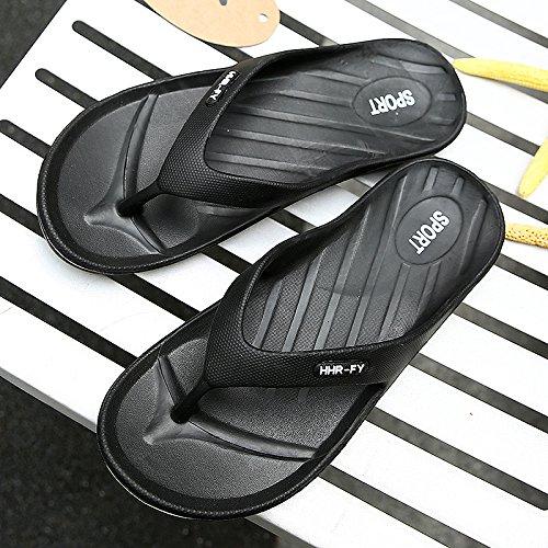 e alla estate usura slittamento outdoor Uomini fankou scarpe raffreddare 44 sandali da estate moda spiaggia nero personalizzati anti wqx8vZY