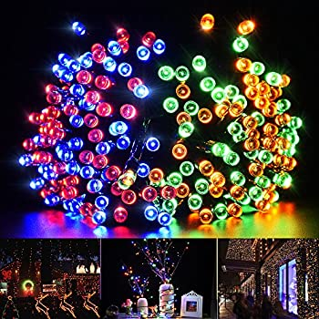 Solar String Lights 200 LED, Litom 72ft Durable Multi-color Decorative Light Outdoor with 8 Modes, Waterproof Ambiance Lighting for Patio, Lawn, Home, Wedding, Christmas Party, Xmas Tree, Halloween