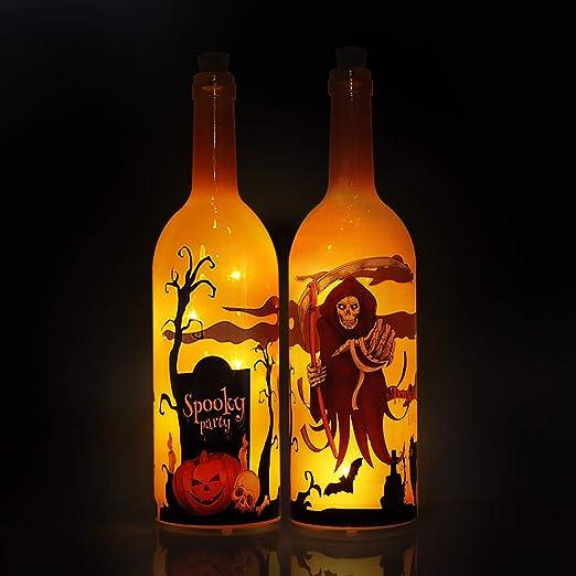 MJ PREMIER - Botellas de vino de vidrio con sonido espeluznante ...