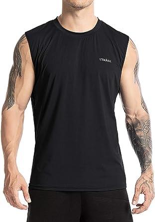 Utm/ärk Mens Performance Quick-Dry Sleeveless Workout Training Muscle Gym T-Shirt Lightweight Tshirts Tank Top
