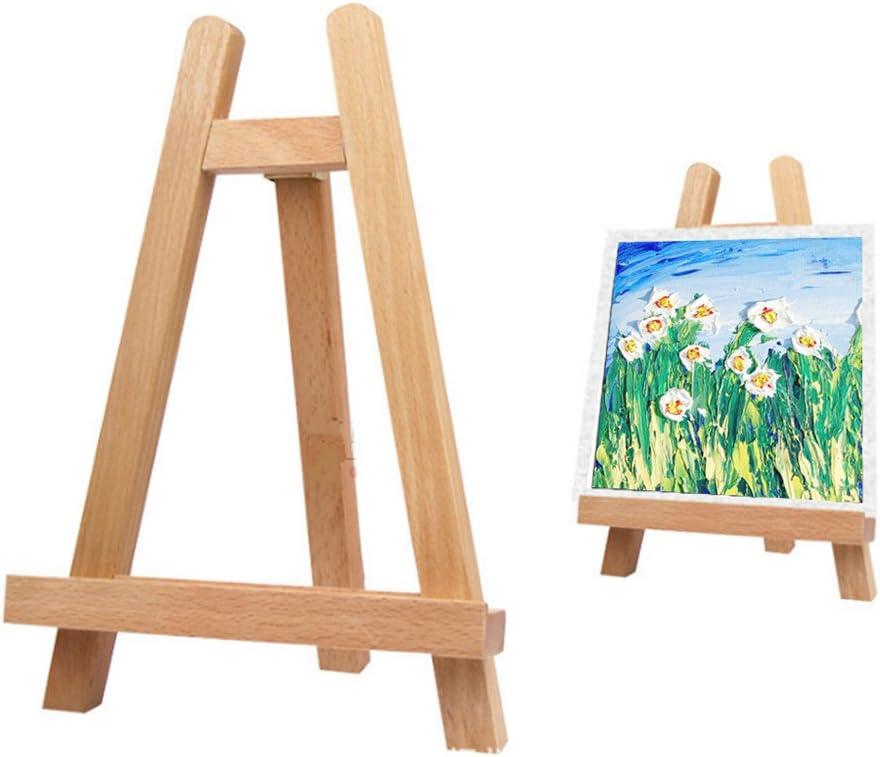 Caballete de madera de haya pequeño para mesa de madera, expositor de caballete multifuncional, marco de fotos para la educación de los niños: Amazon.es: Hogar