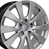 17x7 Wheel Fits Lexus, Toyota - Toyota Avalon Style Hyper Silver Rim, Hollander 69576