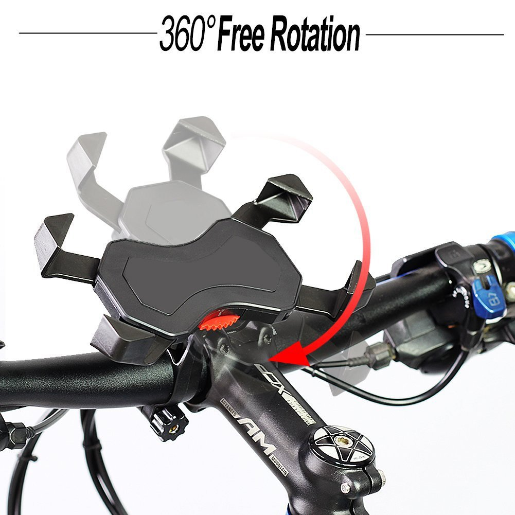 Bisnuy Bike Phone Mount Anti Shake and Stable Cradle Clamp with 360° Rotation Bicycle Phone mount/Bike Accessories/Bike Phone Holder for iPhone Android etc