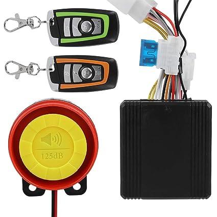 12V Alarma de motocicleta, sistema de alarma universal control remoto del motor de arranque 125dB
