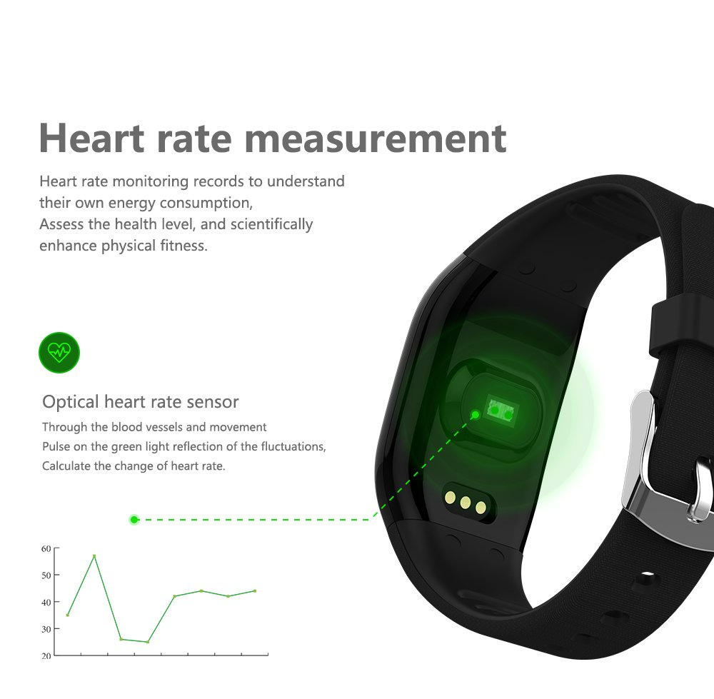 DEXUNWEI Fitness Tracker with Heart Rate 608HR 0.66 OLED 4.0 Bluetooth IP67 Waterproof and Dustproof Sports Wristband Sleep Monitor Flip Screen for Android and IOS (Black) by DEXUNWEI (Image #6)