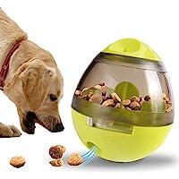 Jasinber Dispensador de Comida Interactivo para Perros, Juguete de Vaso para Perro para dispensador de Alimentos (Verde)