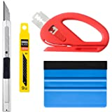 VINYL FROG Vehicle Vinyl Wrap Window Tint Tools Kit for Car Wrapping 1 Set with Retractable Knife 30 Degree Snitty Vinyl Cutter Felt Squeegee