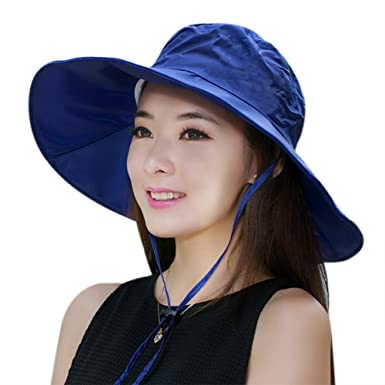 Women Summer Rain Hat UV UPF 52 Sun Protection Wide Brim Hat Sun Hat  Foldable Bucket e76d38487474