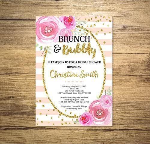 Digital Sparkle Brunch Invitation {Bridal, Birthday etc