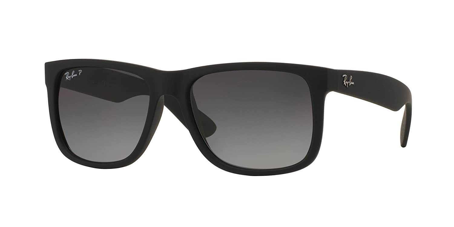 83257892ed Amazon.com  RB Justin Sunglasses (55 mm Matte Black Frame Polarized Black  Lens
