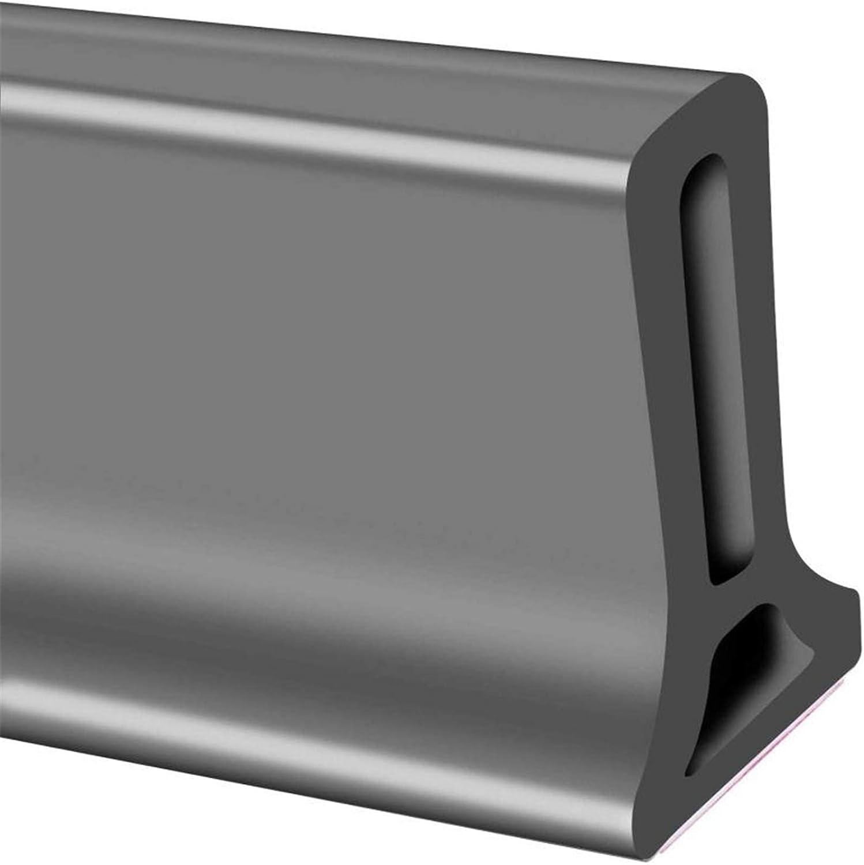 Tira impermeable de silicona flexible, umbral de ducha, tapón de agua de presa de agua, sello de piso del baño, parada de flujo de agua para separación húmeda y seca (50cm,gris): Amazon.es: