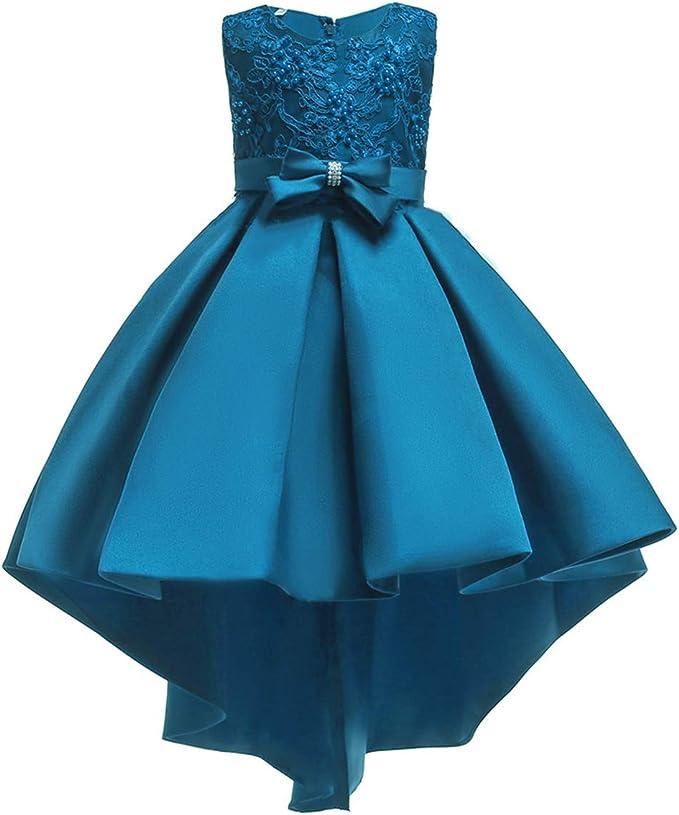 Vestiti Eleganti Da Bambina.Vestito Da Bambina Elegante Floreale Bowknot Festa Di Carnevale