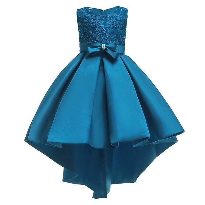 368849b30eca IBTOM CASTLE Vestito da Bambina Elegante Floreale Bowknot Festa di  Carnevale Principessa Abiti Damigella d