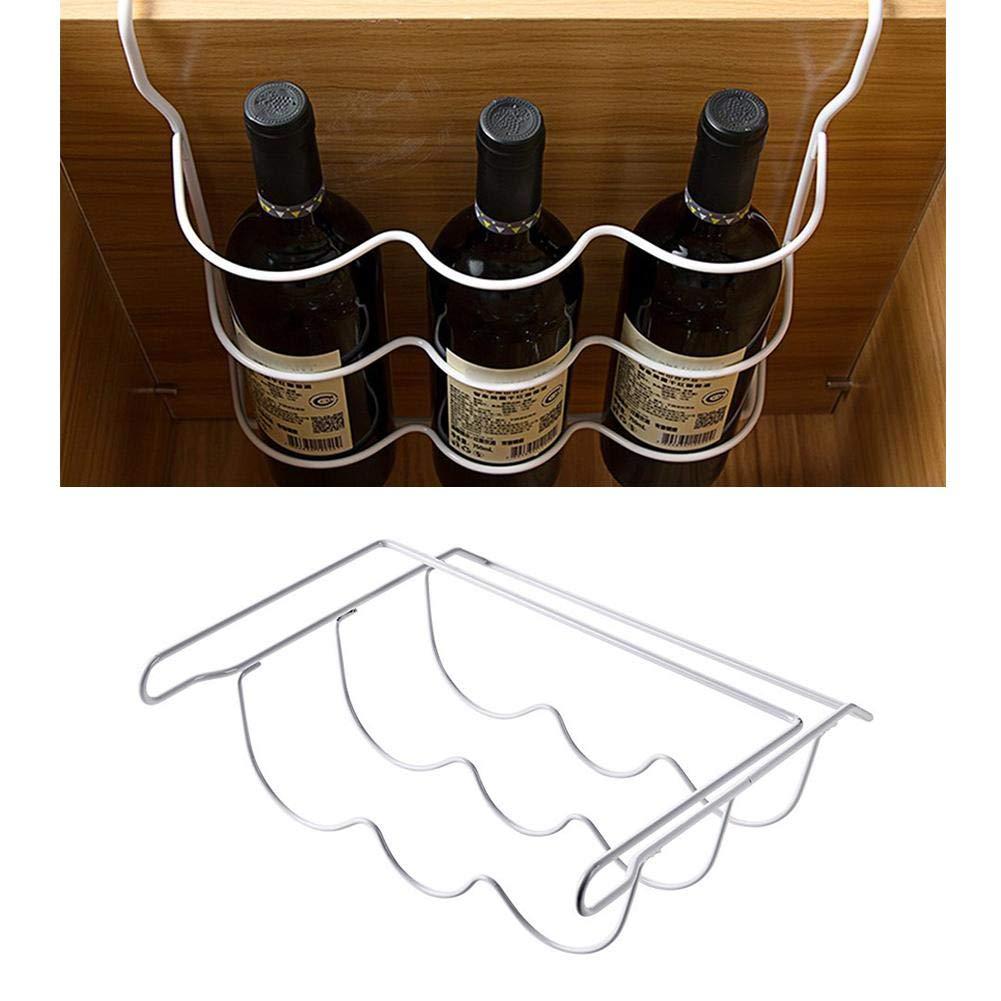Supporto per portabottiglie portabottiglie per Vino in Metallo Portabottiglie per Vino Portabottiglie portabottiglie per Bicchieri da Cucina Frigorifero dispensa