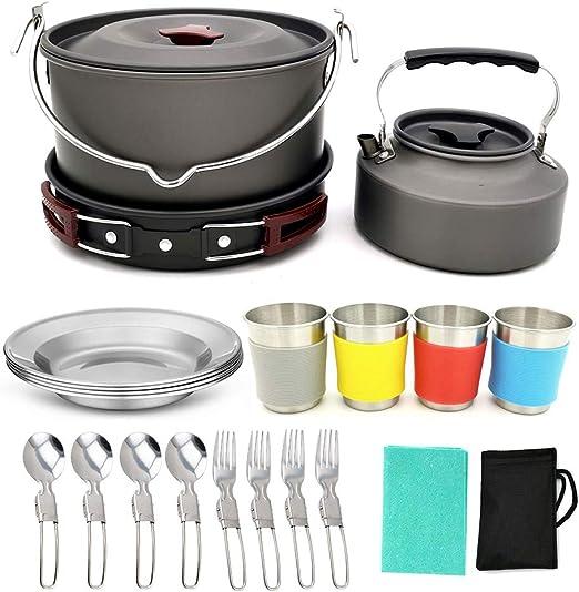 KAMELUN Utensilios De Cocina De Camping Kit, Aluminio Al Aire ...