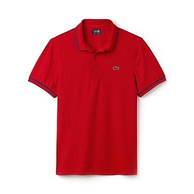 da7abb5a5 Lacoste Mens 2018 Piped Technical Pique Polo Shirt  Amazon.co.uk  Clothing