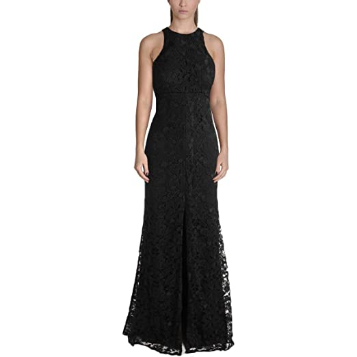 Vera Wang Womens Lace Slit Evening Dress At Amazon Womens Clothing