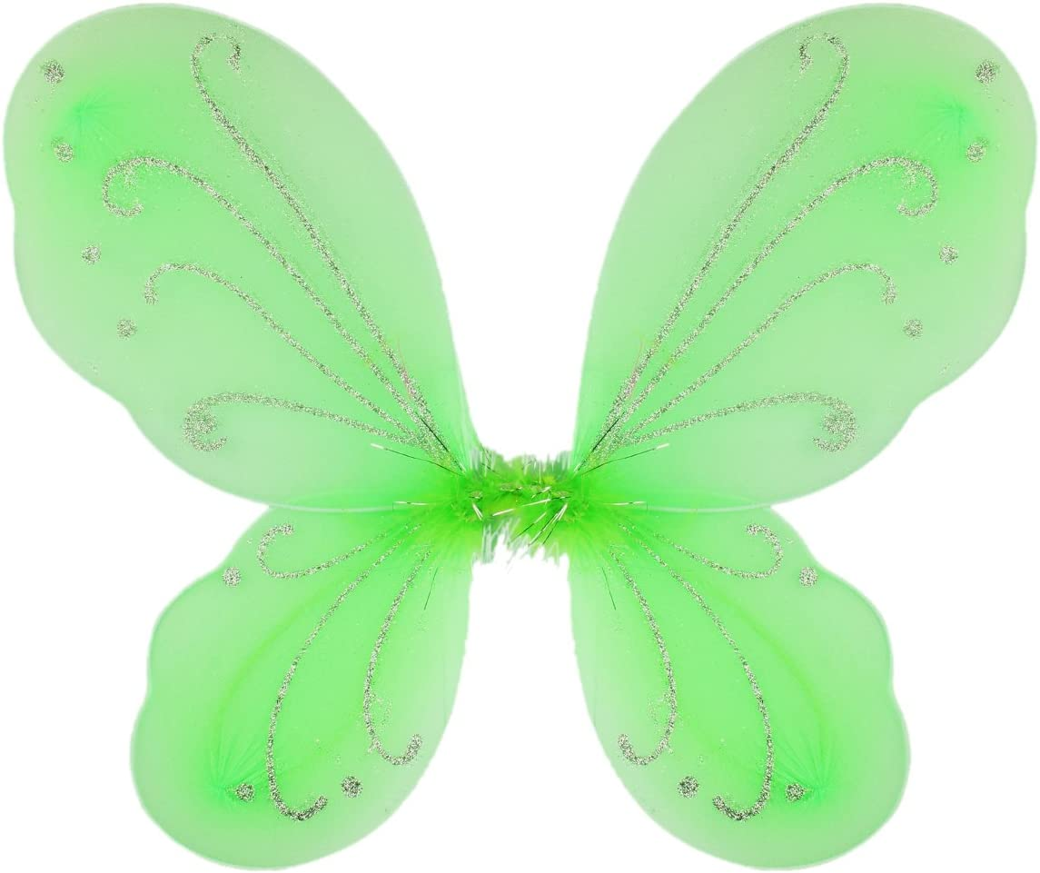 Dushi Girls Butterfly Craze Fairy Wings for Fairy Costumes Party Favor Green …