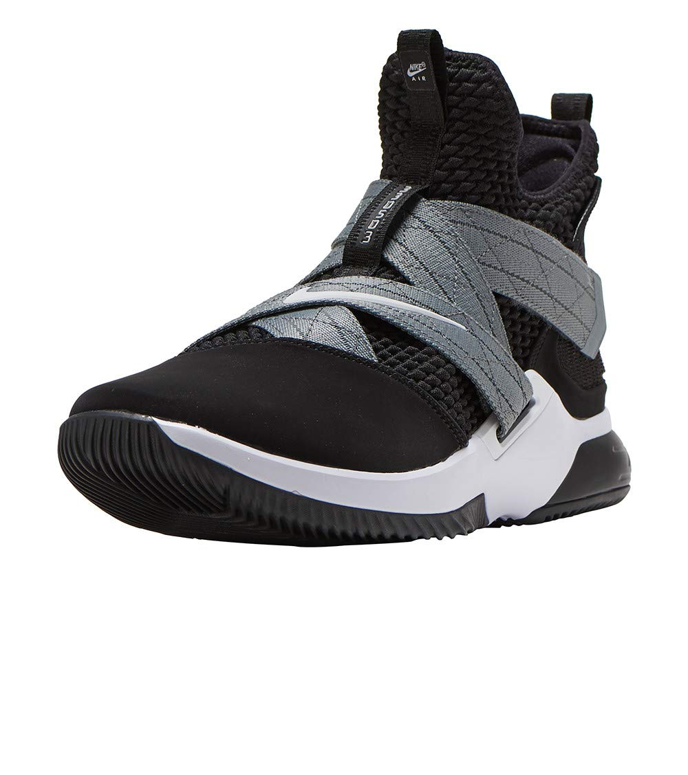 meet 3af4e 56cb8 Nike Men's Lebron Soldier XII Basketball Shoe (10 D US) Black/White