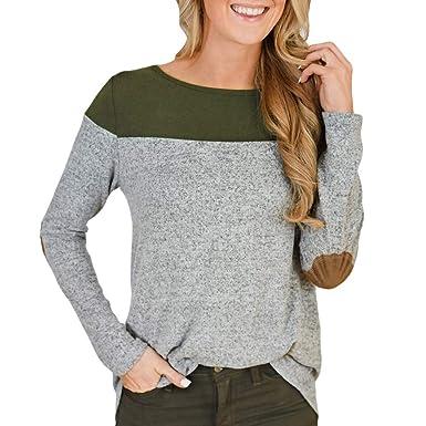 Yanhoo Pullover Unregelmäßige Hem Bluse Damen Herbst Winter Mode Frauen  Zurück Button Blusen Tops Lange Ärmel Einreihig Sweatshirt Top Tunika  Langarmshirt ... cb771be476
