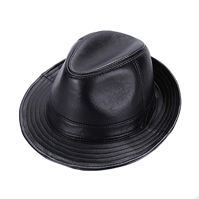 Cappello Jazz da uomo in pelle di montone Cappuccio da baseball Trilby Jazz  classico vintage nero fedora  Amazon.it  Abbigliamento b09e97752765