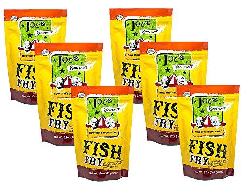 Joes Gourmet Fish Fry Seasoning Mix - As Seen On Shark Tank (Original, 6 Pack)