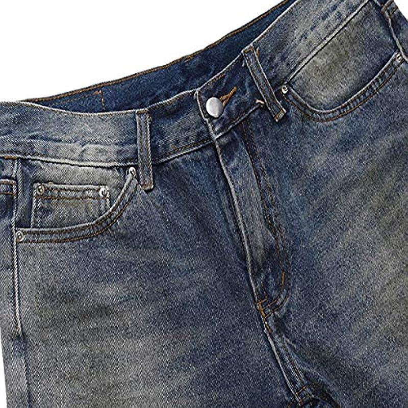 Męskie Jeans Męskie Loch Jeans Męskie Hosen Zipper Skinny Jeans: Odzież