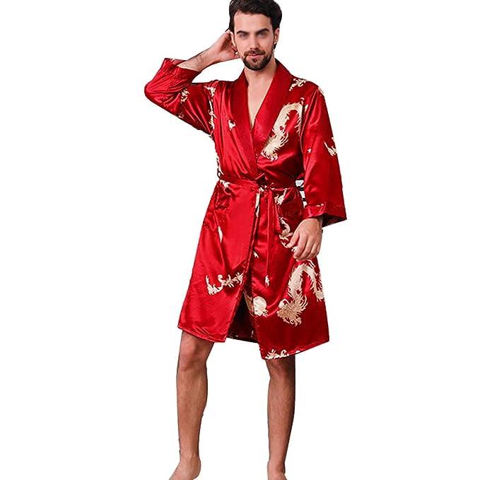 Yongyong Pantalones Cortos De Pijamas De Seda De Imitación Alta Para Hombres De Primavera Y Otoño