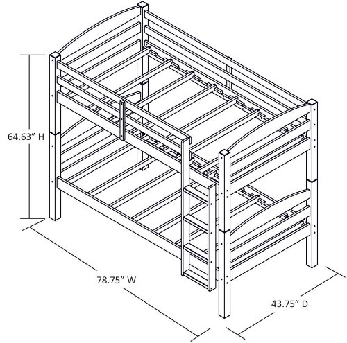 mainstays twin over twin wood bunk bed assembly instructions Amazon.com: Mainstays Twin Over Twin Wood Bunk Bed, Walnut: Kitchen ...