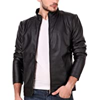 Leather Retail Classy Look Plain Faux Leather Jacket White