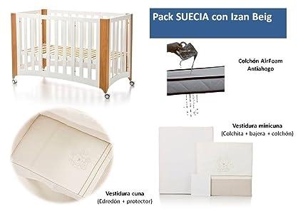 Bolin Bolon Pack Cuna-minicuna colecho SUECIA completa IZAN BEIG