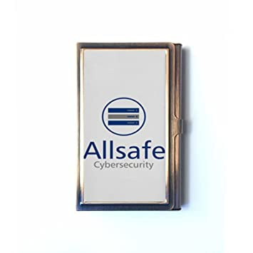 Mr robot allsafe cybersecurity logo tv custom unique bronze mr robot allsafe cybersecurity logo tv custom unique bronze stainless steel business credit card holder name reheart Images